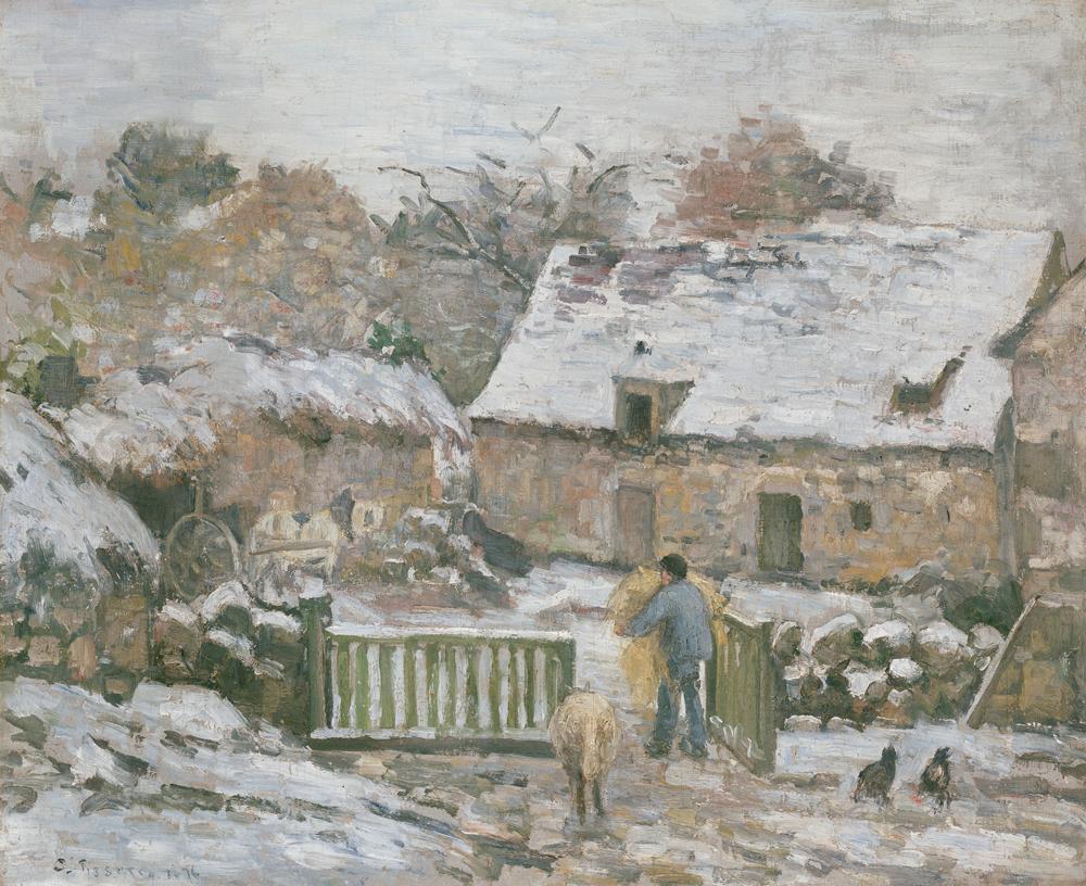 Camille Pissarro Snow