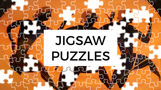 Jigsaw puzzle version of runners on a Greek vase