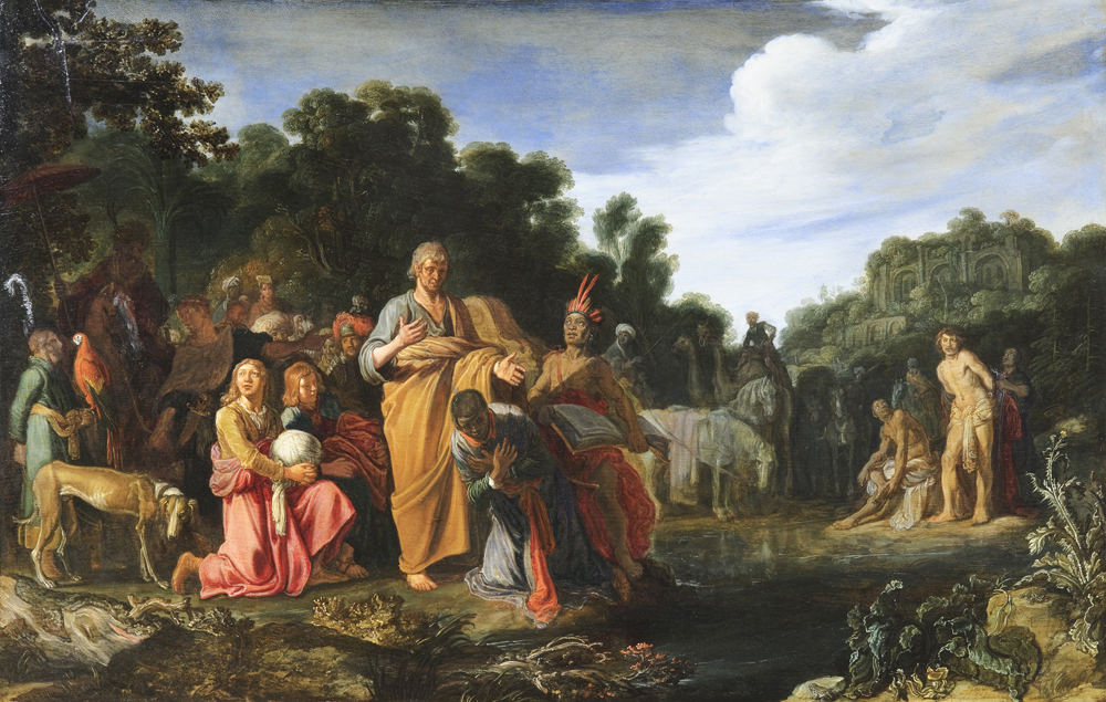 2020 Young Rembrandt Exhibition – Pieter Lastman, The Baptism of the Eunuch, c. 1615–20 © Fondation Custodia, Collection Frits Lugt, Paris