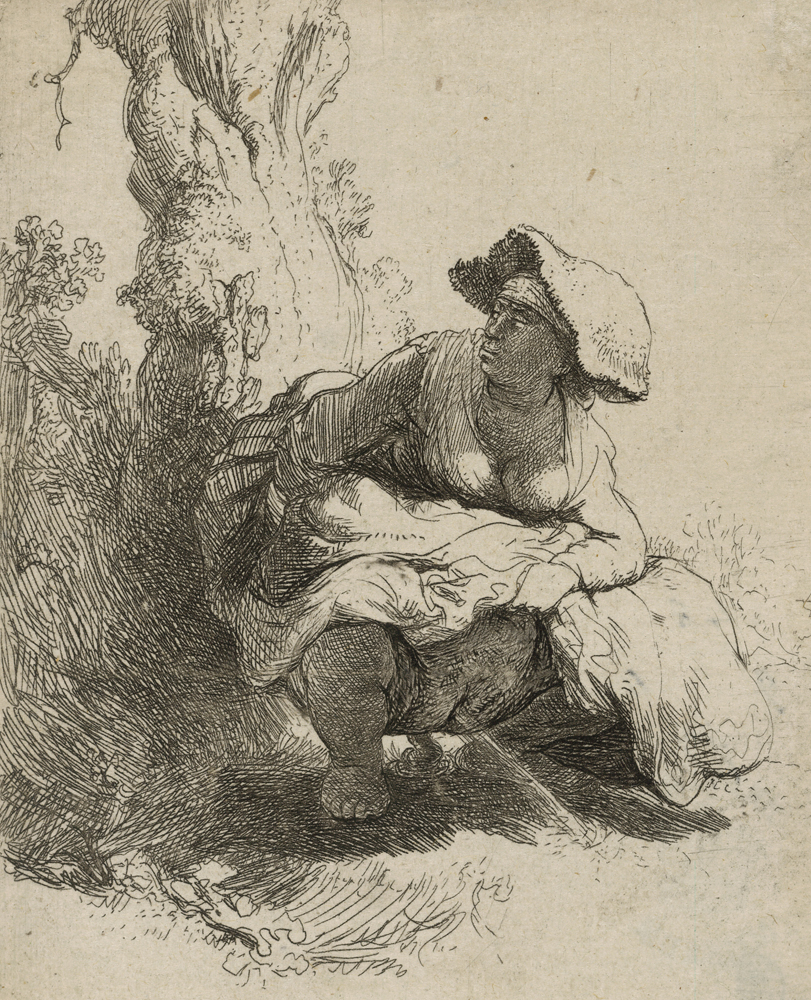 2020 Young Rembrandt Exhibition – Rembrandt, A woman defecating, 1631 © British Museum, London