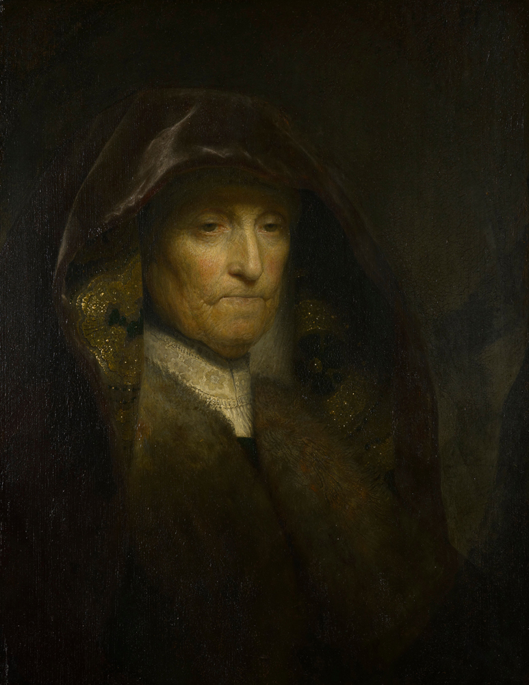 2020 Young Rembrandt Exhibition – Rembrandt, An Old Woman Called The Artist's Mother, c. 1627–9 - The Royal Collection Trust / © HM Queen Elizabeth II 2020