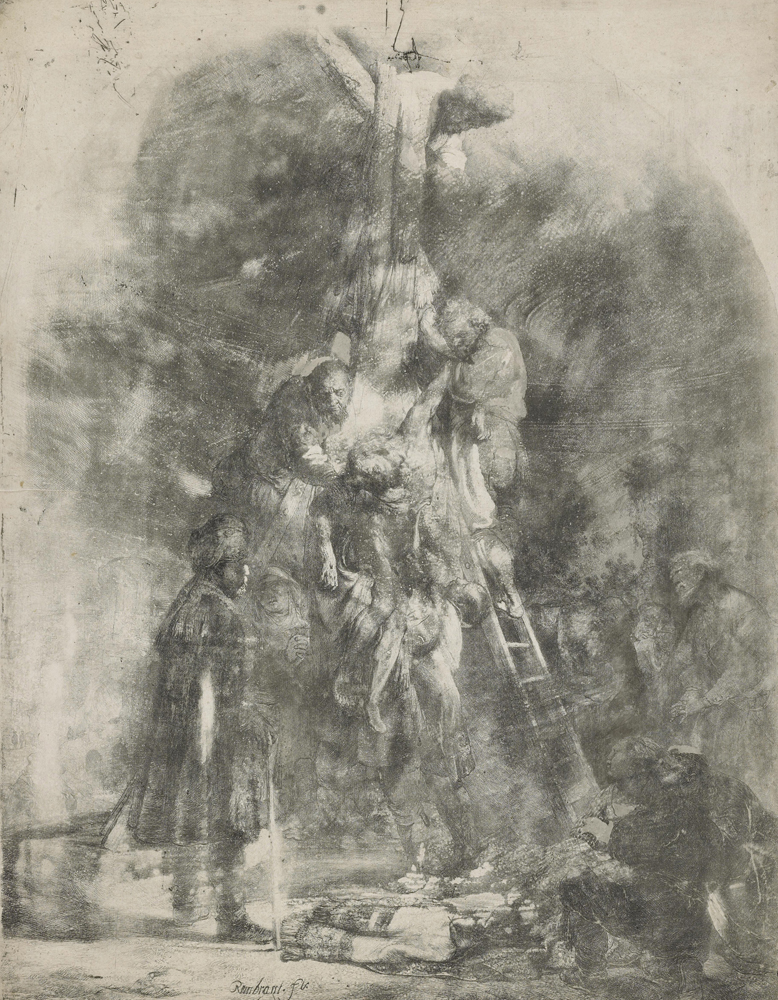 2020 Young Rembrandt Exhibition – Rembrandt and Jan van Vliet, Descent from the Cross, 1633 (first plate) © British Museum, London