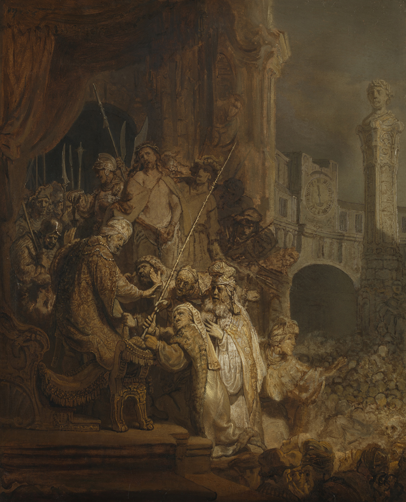 2020 Young Rembrandt Exhibition – Rembrandt, Christ before Pilate, Ecce Homo, 1634 © National Gallery, London
