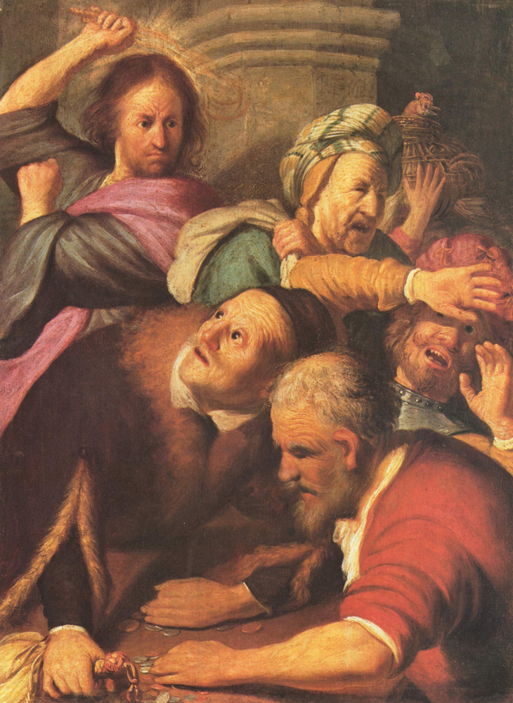 2020 Young Rembrandt Exhibition – Rembrandt, Christ Driving the Money Changers from the Temple, 1626 © The Pushkin State Museum of Fine Arts, Moscow