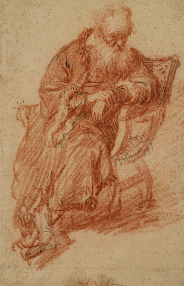 2020 Young Rembrandt Exhibition – Rembrandt, Old man seated in an armchair, 1631 © Teylers Museum, Haarlem