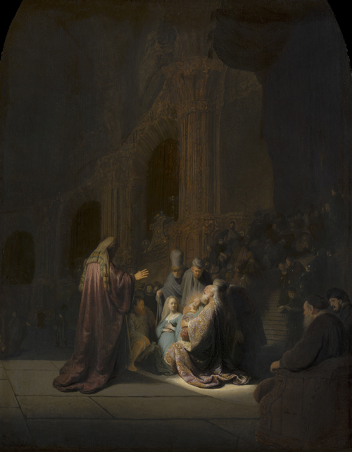 2020 Young Rembrandt Exhibition – Rembrandt, Simeon in the Temple (Simeon's Song of Praise), 1631 © Mauritshuis, The Hague