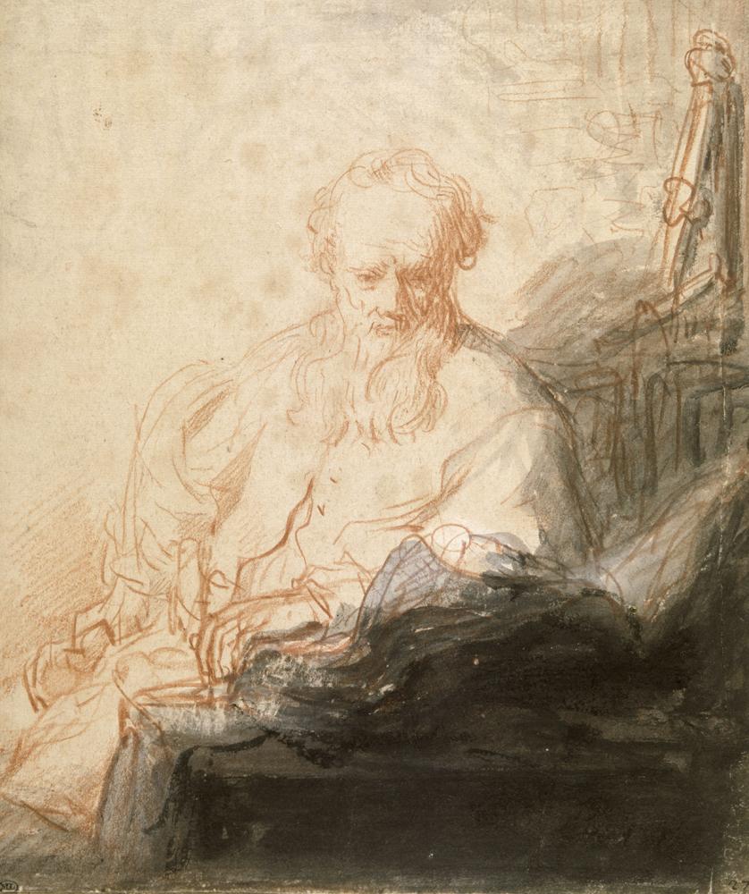 2020 Young Rembrandt Exhibition – Rembrandt, The apostle Saint Paul in meditation, c. 1629 © Musée du Louvre, Paris