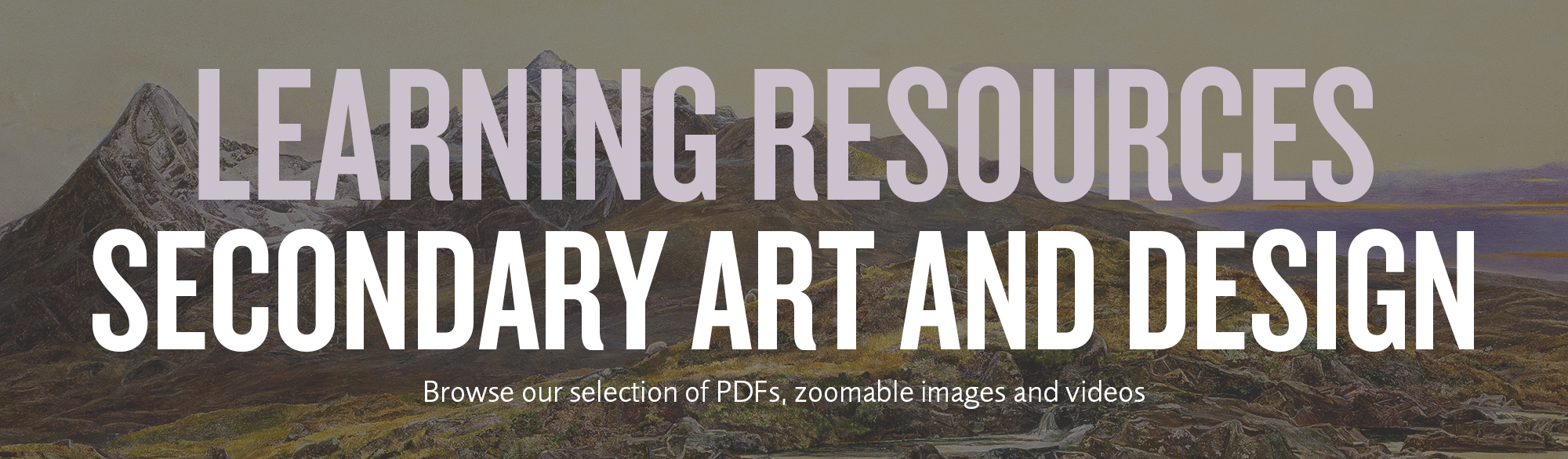 Learning resource secondary art and design