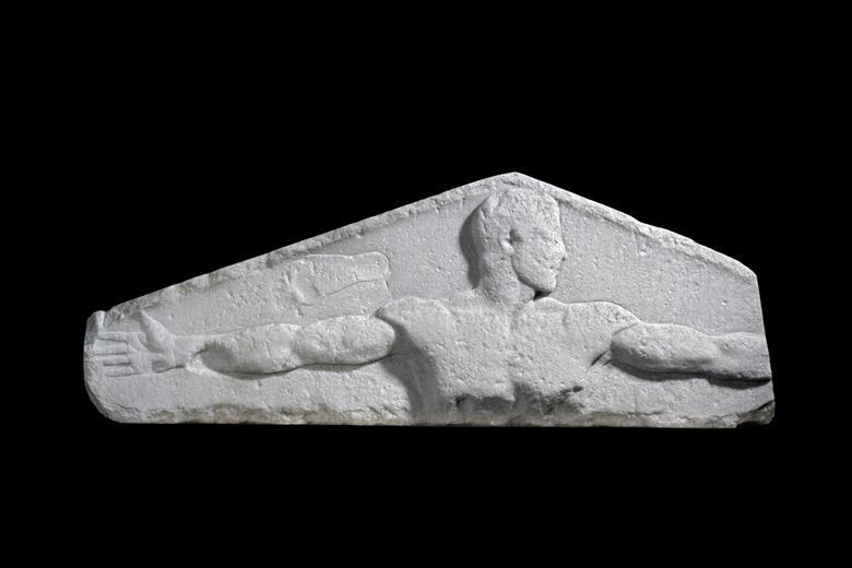 Metrological relief, marble, Aegean, 450