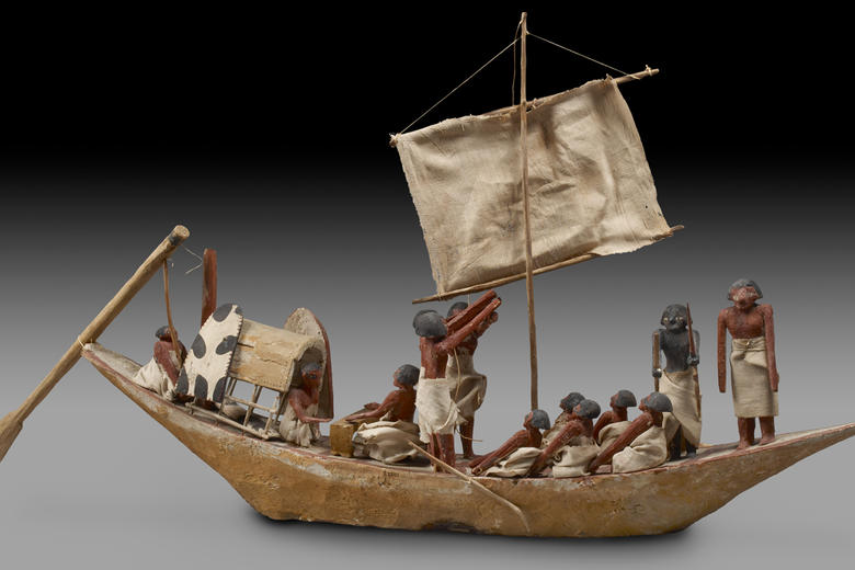 Wooden Model of a Funerary Boat