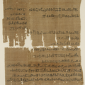 An ancient papyrus document showing the will of a woman named Naunakhte