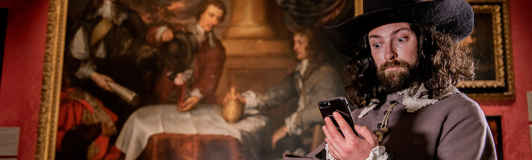 William Dobson using the Civil War Tour App