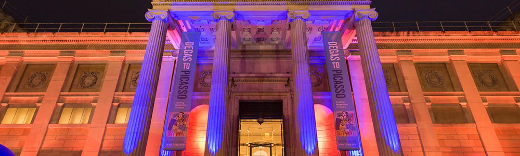 Ashmolean Venue Hire – The Museum's Exterior Lit Up