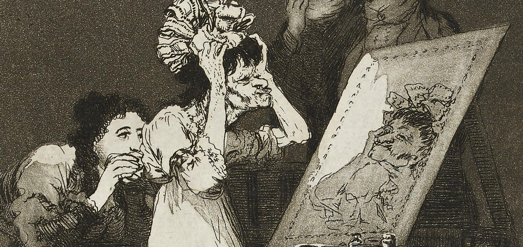 Hasta la muerte by Francisco José de Goya y Lucientes (detail)