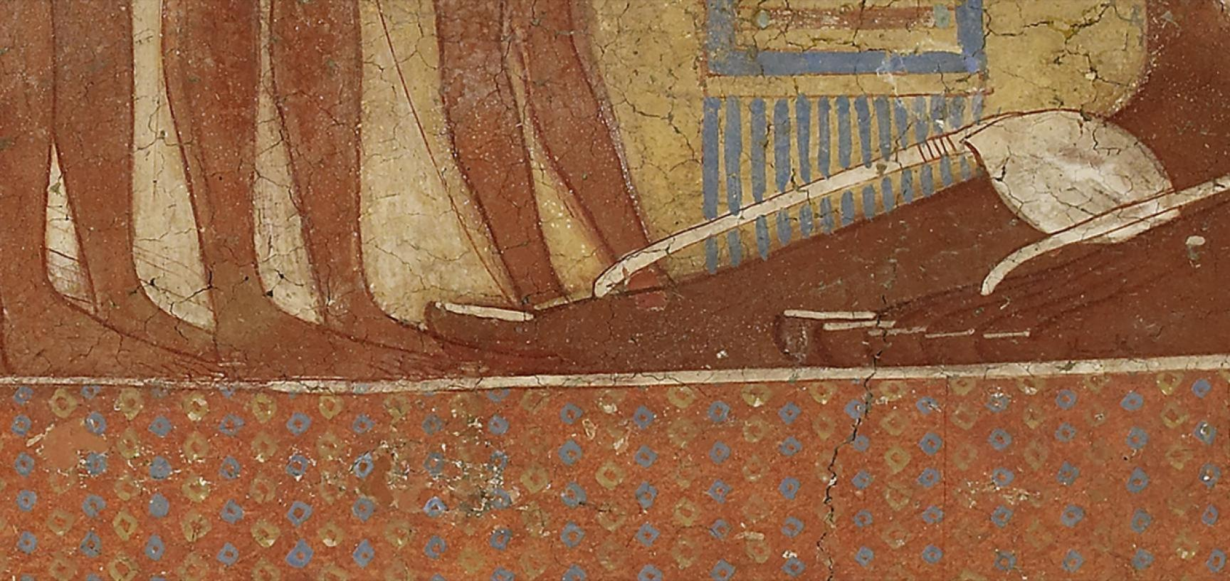 PRINCESS FRESCO (detail) from the Ashmolean collections