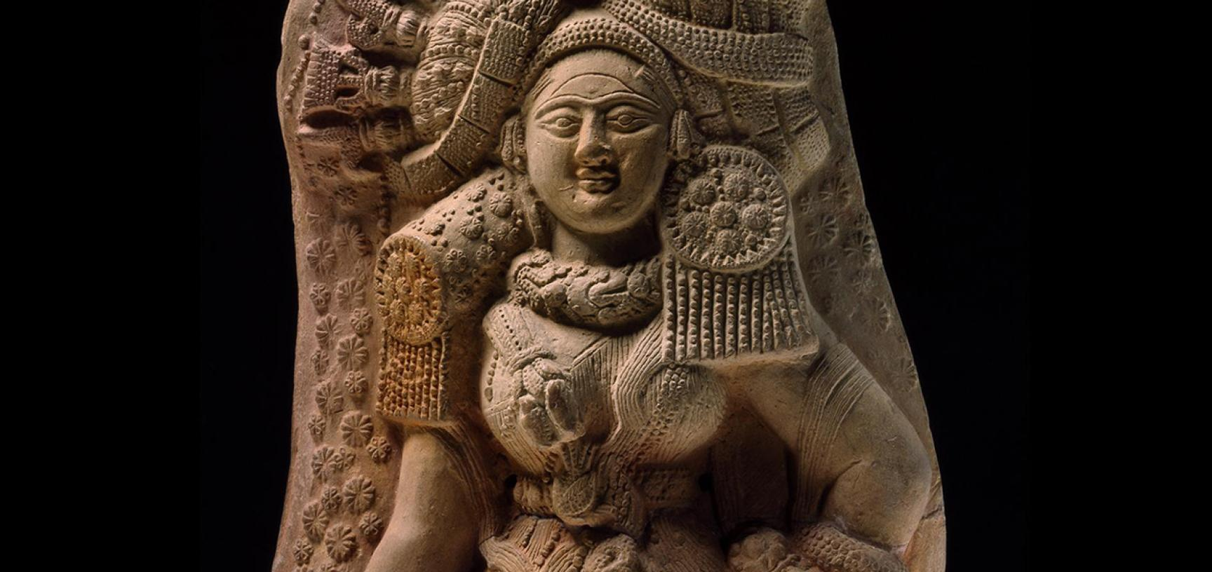 PLAQUE WITH YAKSHI (NATURE SPIRIT) (detail)