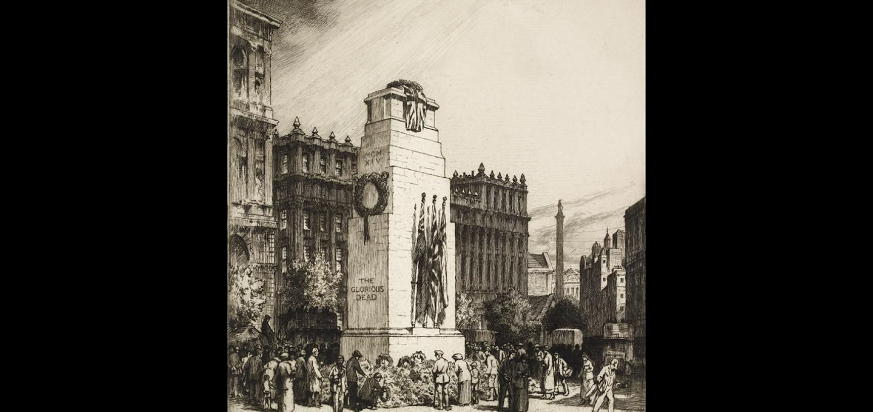 Stanley Anderson, The Cenotaph, 1919 © Ashmolean Museum, Presented by Arthur Mitchell, WA1964.75.1639