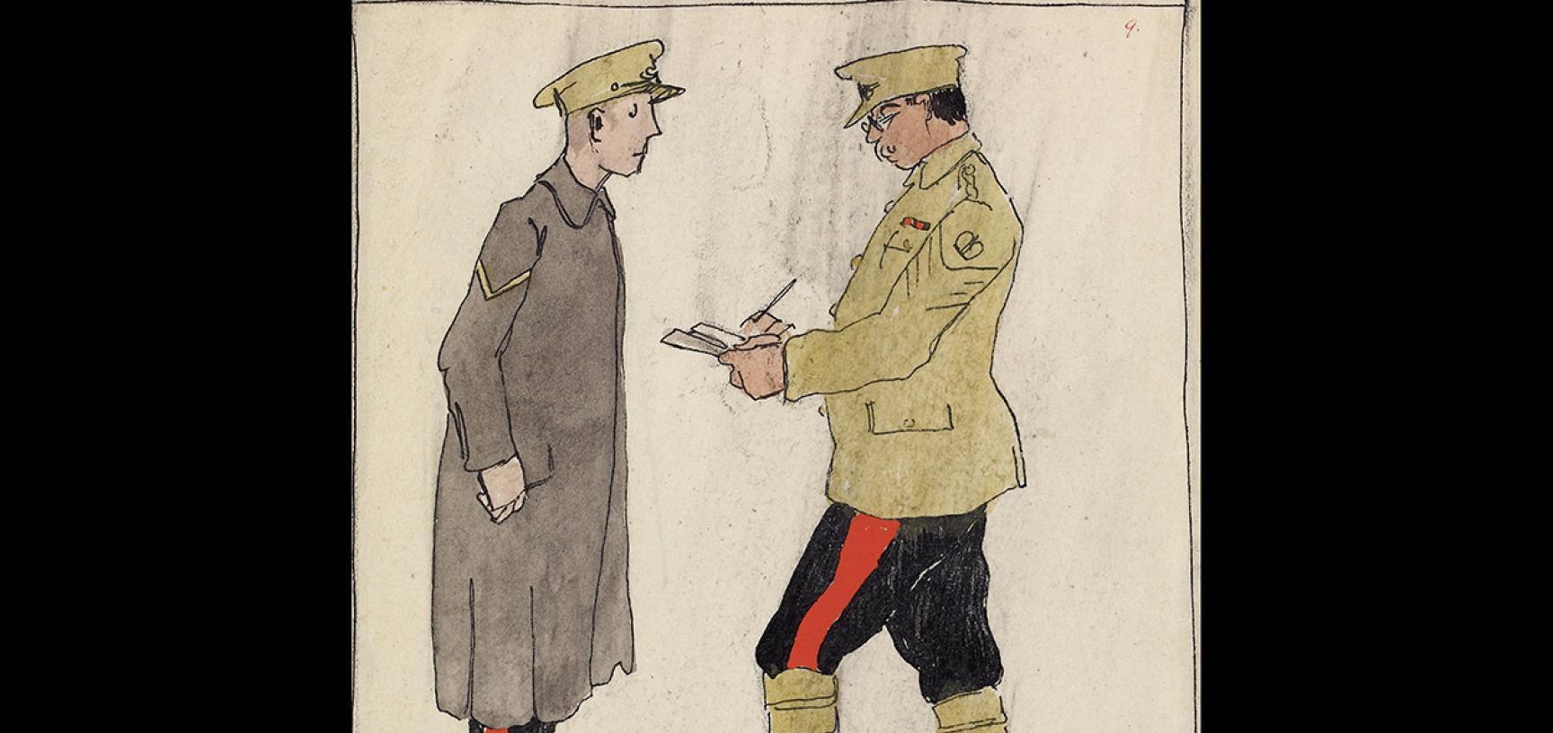 Claud Lovat Fraser, Divisional Artillery, R.F.A., December 1914, 1919 © Ashmolean Museum, Presented by Mrs Grace Lovat Fraser (the artist's widow), WA1975.101.28
