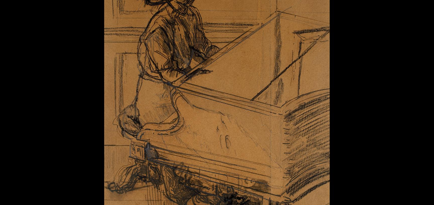 Walter Sickert, Study for 'Tipperary', 1914 © Ashmolean Museum, Presented by the Christopher Sands Trust, WA2001.37