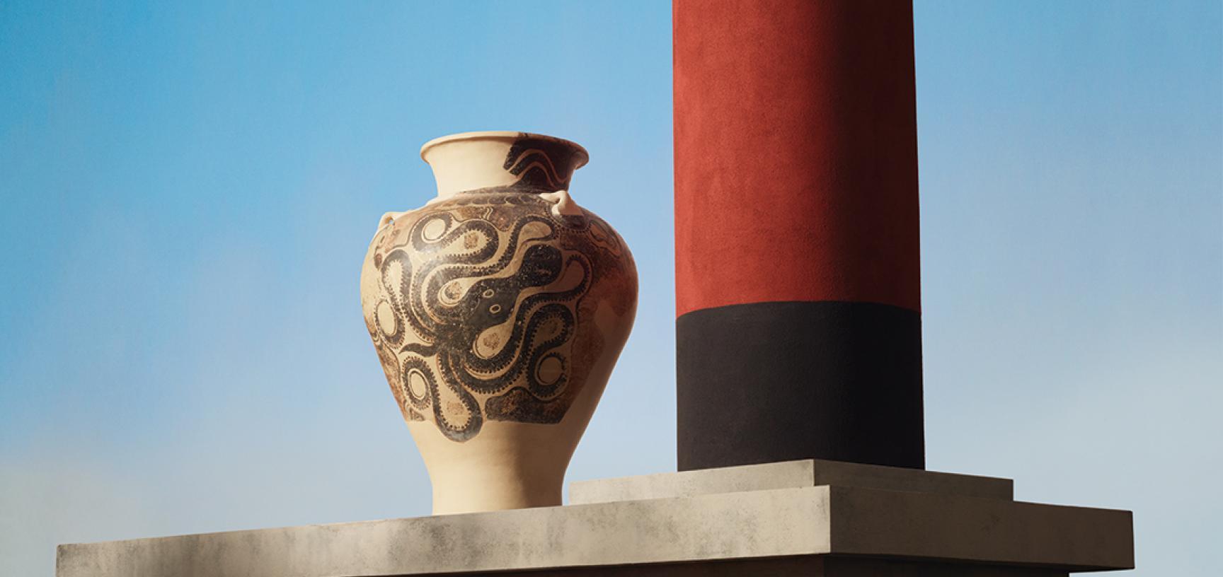 Jar with Octopus Motif, Late Minoan II Period
