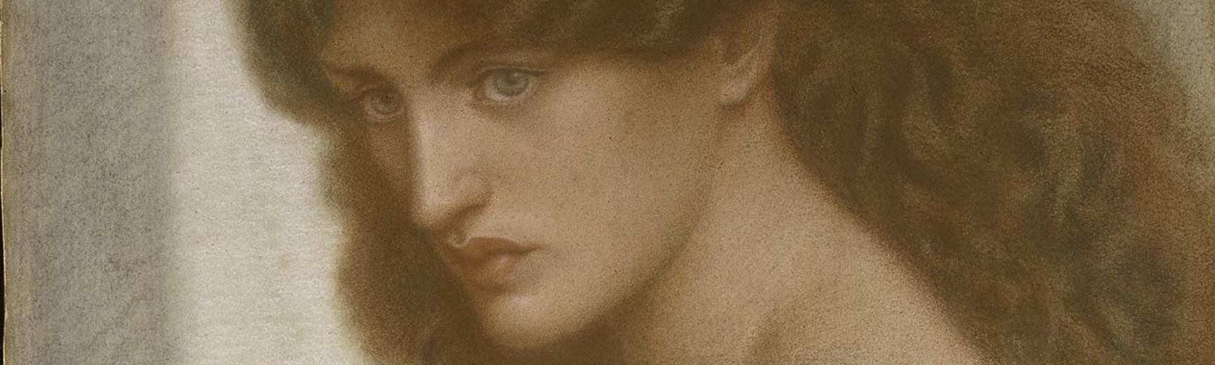 Detail of portrait of a women