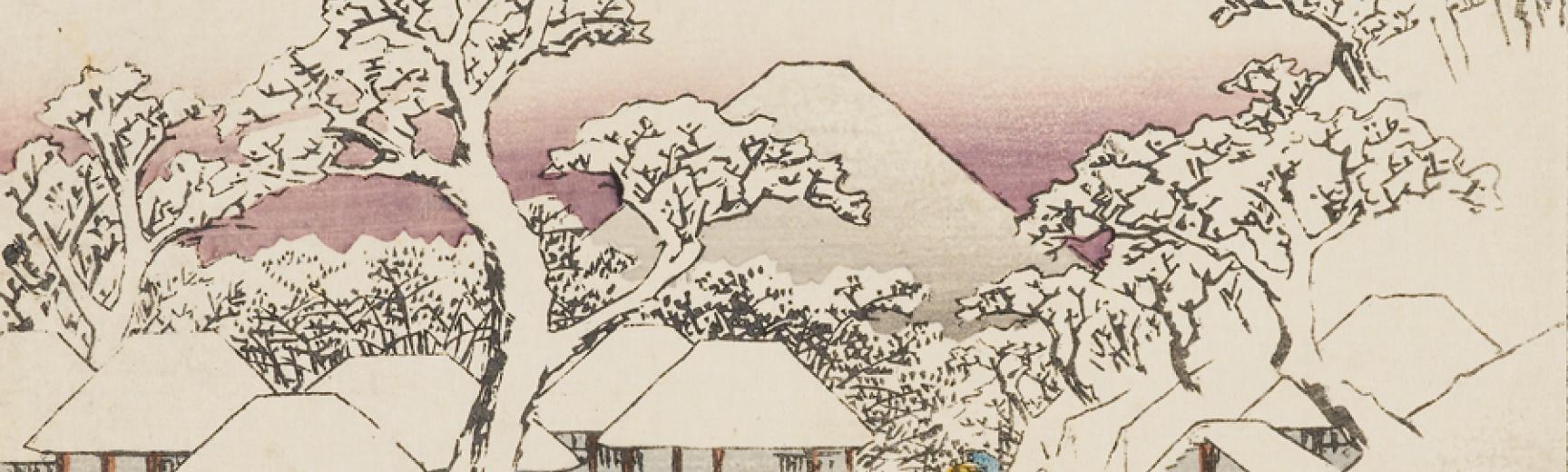 Shower of rain at Nihonbashi Bridge Hiroshige's Japan