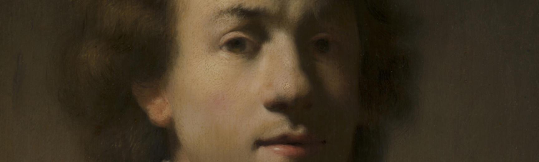 2020 Young Rembrandt Exhibition – Gerrit Dou after Rembrandt, Portrait of Rembrandt with a Gorget, c. 1630 © Mauritshuis, The Hague