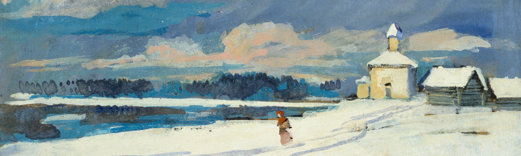 korovin winter landscape wa 1960 36 3 detail