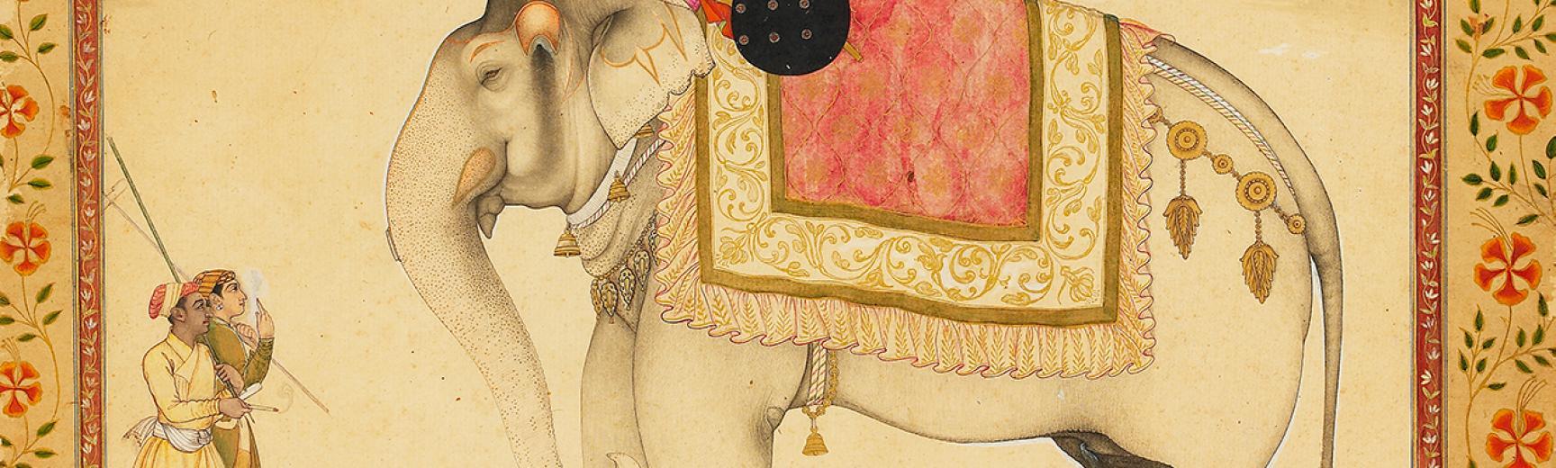The elephant Ganesh Gaj and rider