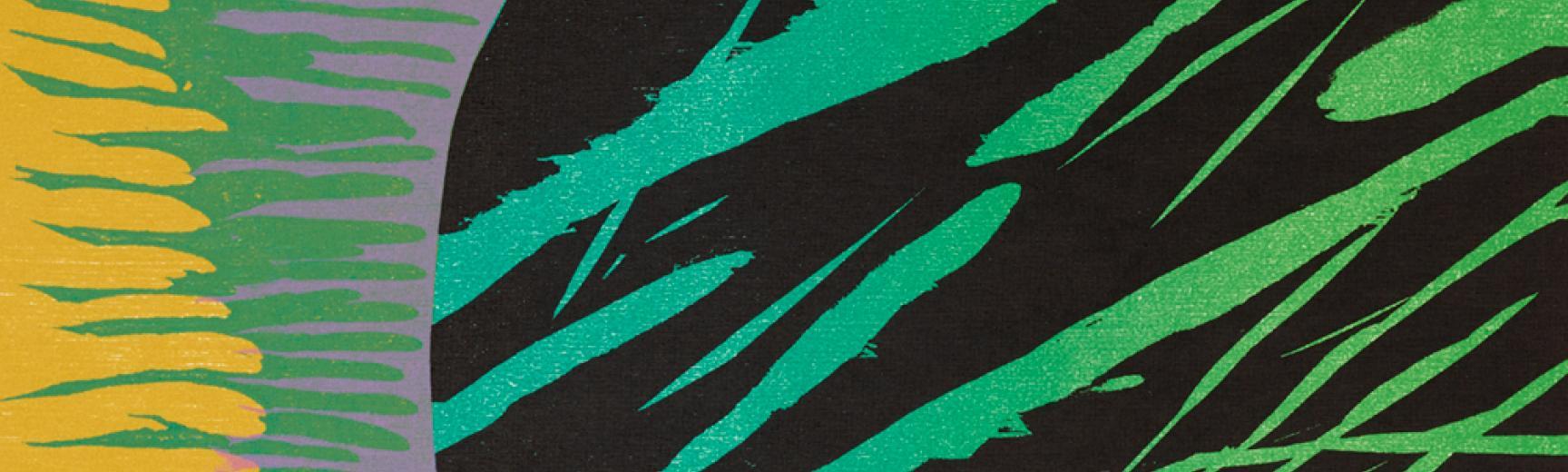 Naoko Matsubara – Dark Undercurrents, a colour woodblock print