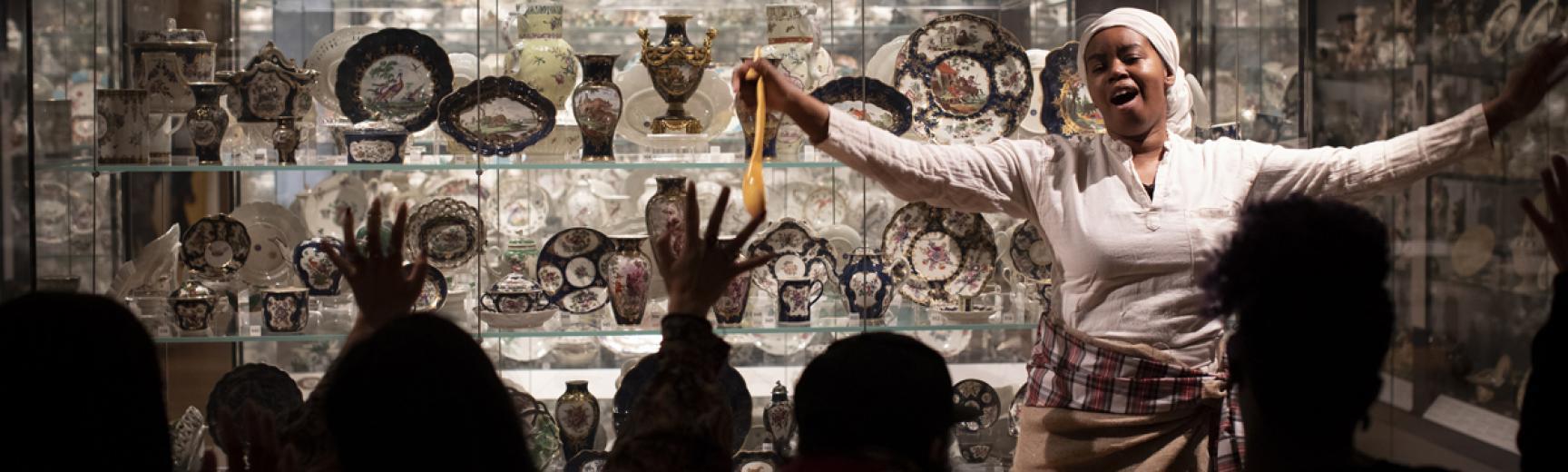 A Nice Cup of Tea? event in the Ashmolean European Ceramics Gallery