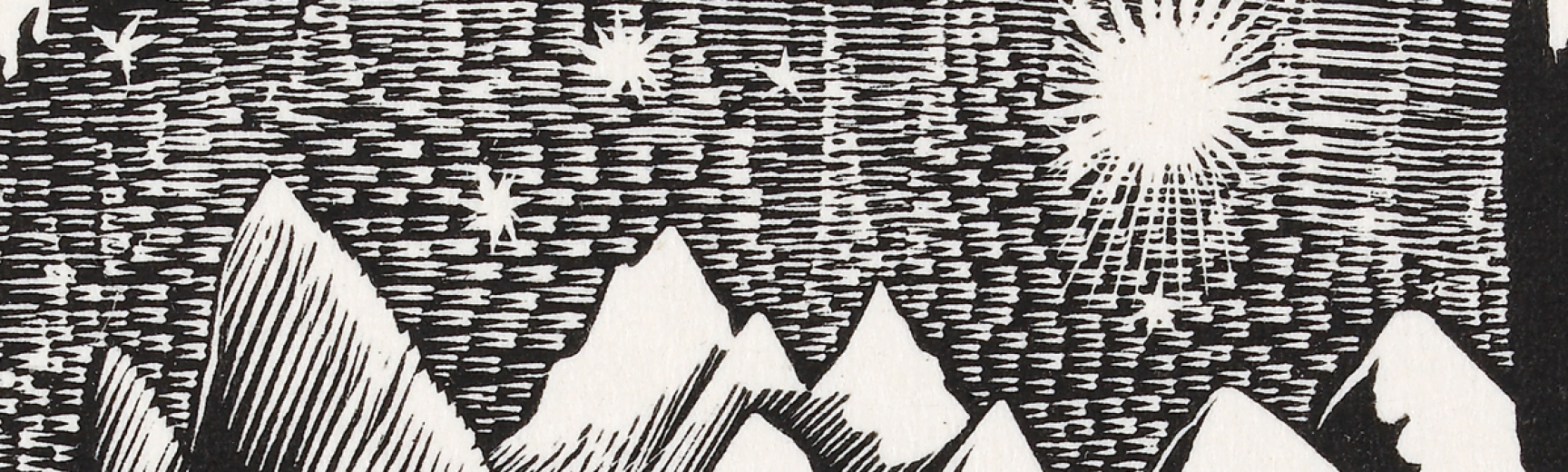 Ravilious Starry Sky Engraving