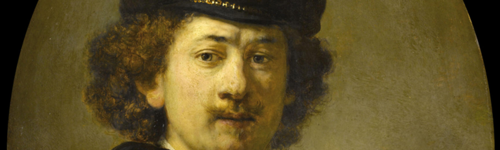 2020 Young Rembrandt Exhibition – Rembrandt, Self-Portrait with Beret and Golden Chain, 1633 © Musée du Louvre, Paris