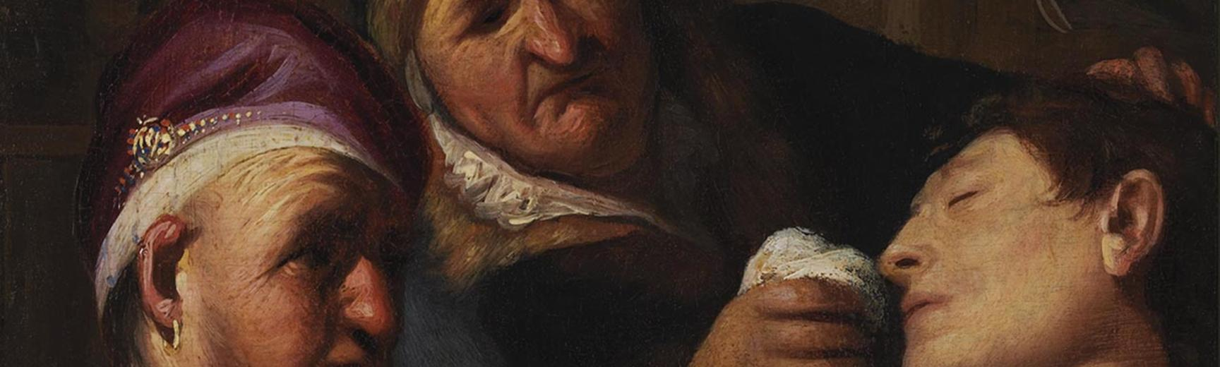 Detail of painting of three men