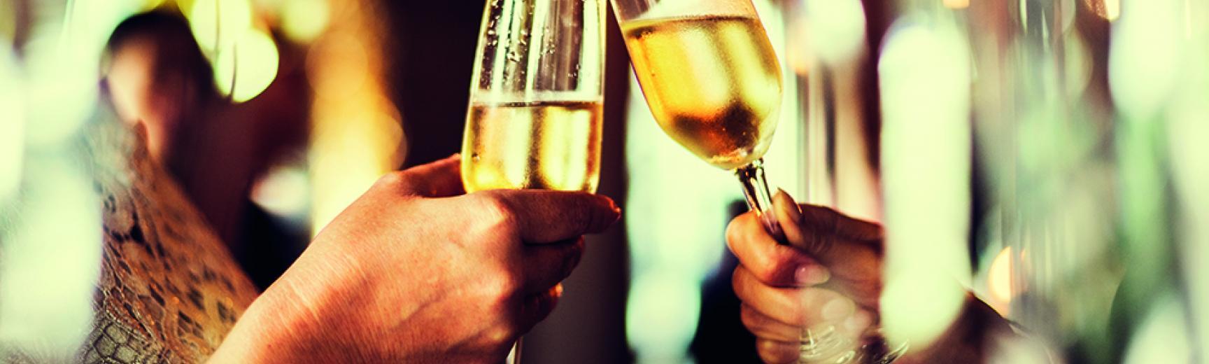 venue hire christmas champagne