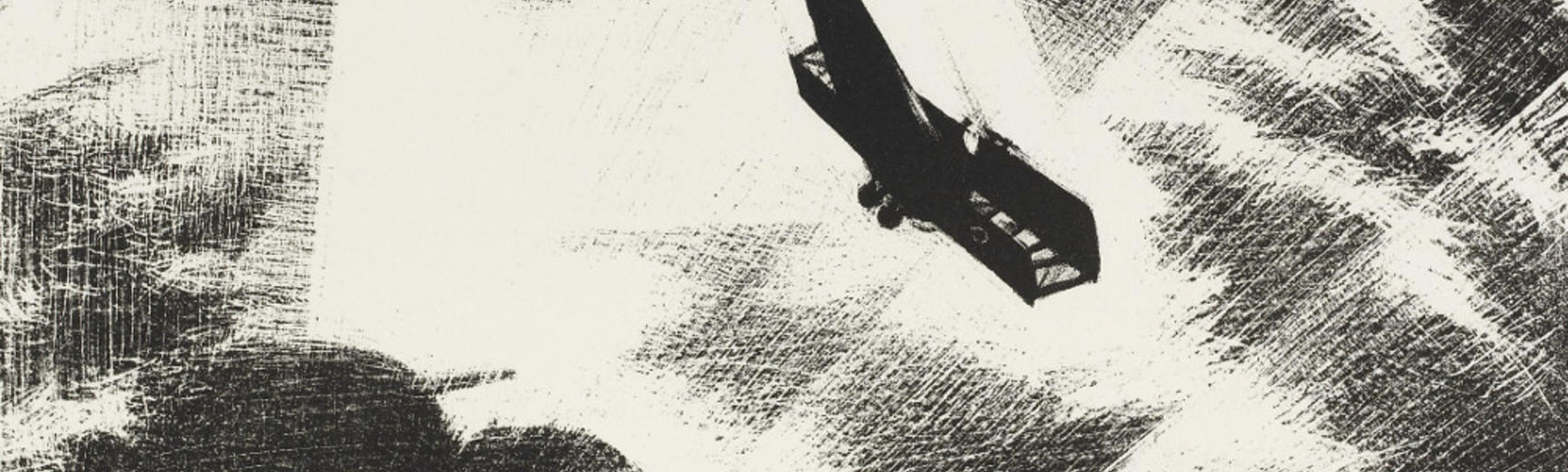 Nevinson, Swooping Down on a Taube, lithograph, 1917