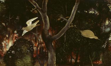 The Forest Fire (detail) by Piero di Cosimo