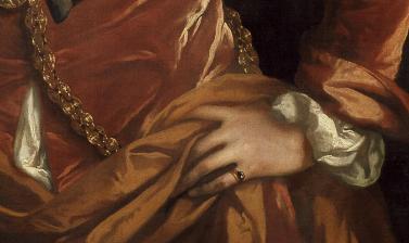 Portrait of Elias Ashmole by John Riley (detail)