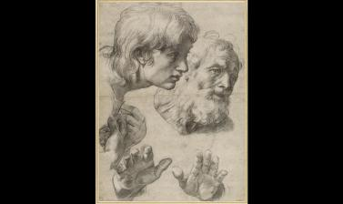 Studies of Two Apostles for the Transfiguration by Raphael