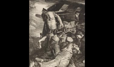Frank Brangwyn, The Gun, 1917 © Ashmolean Museum, Presented by the Ministry of Information, WA1919.31.24