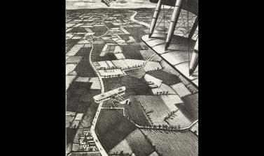 Christopher Nevinson, In the Air, 1917 © Ashmolean Museum, Presented by the Ministry of Information, WA1919.31.40