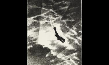 Christopher Nevinson, Swooping Down on a Taube, 1917 © Ashmolean Museum, Presented by the Ministry of Information, WA1919.31.42
