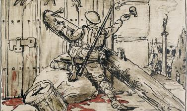 William Nicholson, The End of War, 1917 © Ashmolean Museum, Presented by the Ministry of Information, WA1919.31.8