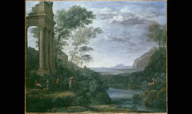 Landscape with Ascanius shooting the Stag of Sylvia by Claude Lorrain
