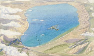 Sydney Carline, The Sea of Galilee from Above the Clouds, c. 1919 © Ashmolean Museum, Presented by Mrs Gwendolyn Carline (the artist's widow), WA1929.31