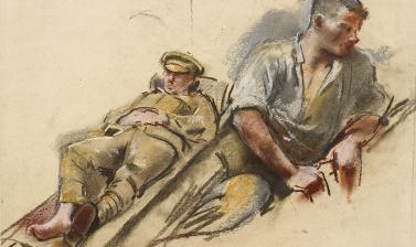 Henry Tonks, Two Wounded Soldiers, c. 1918 © Ashmolean Museum, Presented by Mr and Mrs C.H. Collins Baker, in memory of the artist, WA1937.311