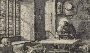 St Jerome in his Study (detail) by Albrecht Dürer