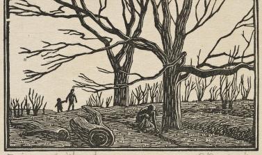 Gwen Raverat, Primrose Wood, 1919 © Ashmolean Museum, Presented by Arthur Mitchell, WA1964.75.1409