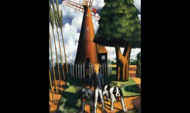 Gilbert Cannan and his dogs by Mark Gertler