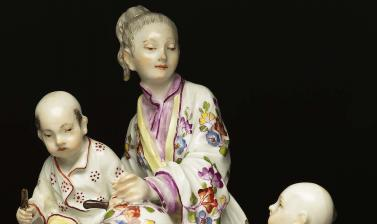 Chinoiserie group, Meissen, Germany, c. 1750
